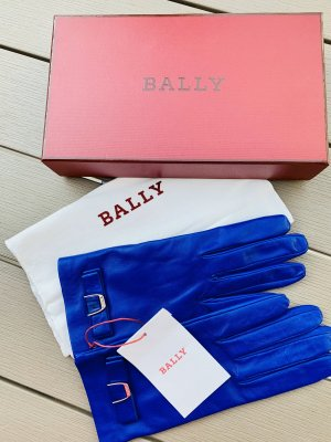 Bally Leather Gloves blue leather