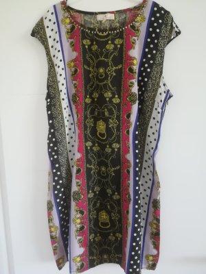 Neu/ungetragen: Edles Kleid mit Pailettendeko am Decolete, Mustermix, Gr. M