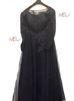 !!! NEU / ungetragen !!! JJs House - Abendkleid - Ballkleid - Brautmutterkleid - dunkelblau - bestickt - Perlen - Spitze - Langarm
