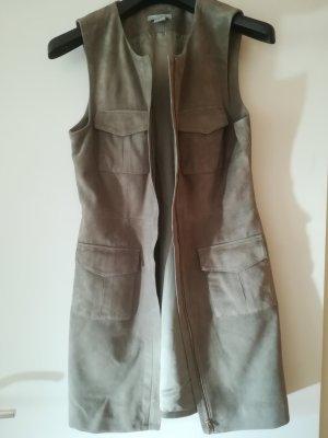 H&M Vestido de cuero gris oscuro