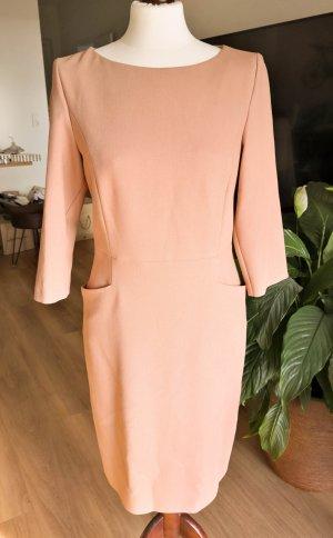 Hallhuber Sheath Dress beige-camel mixture fibre