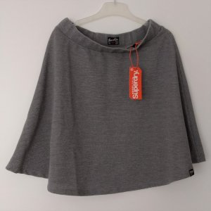 Superdry Falda de patinador color plata-gris