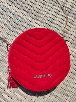 Neu Valentino Handtasche Umhängetasche Samt rot