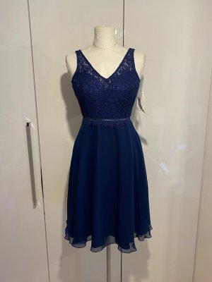 NEU Vera Mont Kleid Gr.32 blau Minikleid