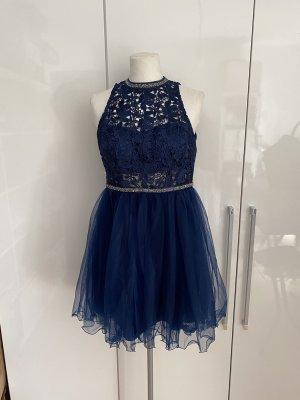 NEU Vera Mont Kleid Gr.38 blau Cocktailkleid Abendkleid