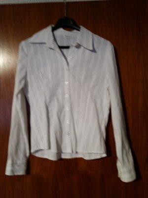NEU Verkaufe Bluse Gr. 40 von Yessica/C & A in weiß mit schwarz/silber