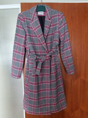 NEU Verkaufe Mantel Gr. 38 kariert pink-schwarz-weiß ORSAY