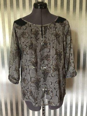 Vero Moda Shirt Tunic grey-black