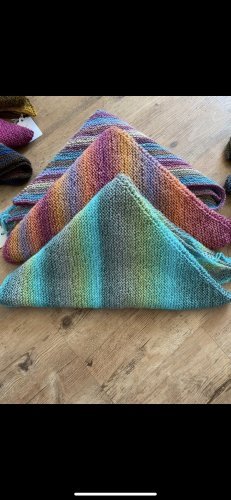 Hand made Knitted Scarf multicolored