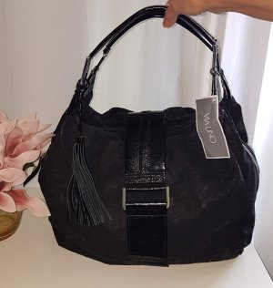 NEU VIA UNO LEDER HANDTASCHE Weekender Bag Handbag Shoppingbag viel Stauraum exklusive Ledertextur WUNDERSCHÖN EDEL