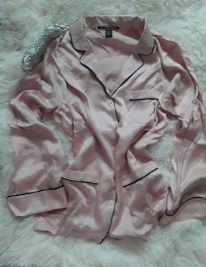 Victoria's Secret Pigiama nero-rosa pallido Seta