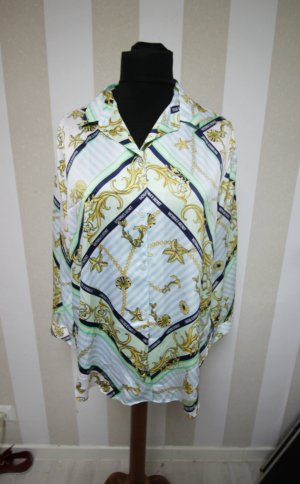 NEU Victoria´s Secret Bluse Shirt Satin Look Muster Scarf Barock