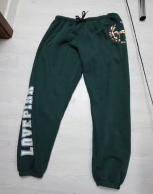 Pink Victoria's Secret Pantalon de sport blanc-vert foncé