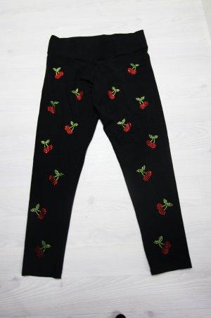 NEU Victoria´s Secret Leggings Strass Nieten Bling Bling Kirschen Cherrys Hose gr XL 40 42