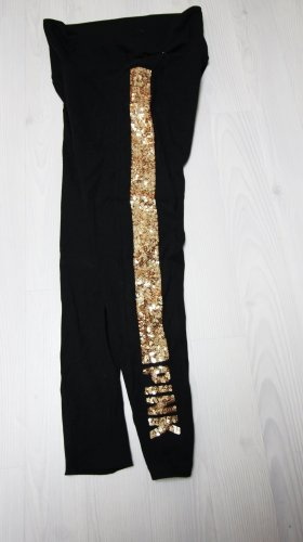 Pink Victoria's Secret Leggings negro-color oro