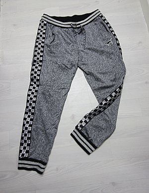 Pink Victoria's Secret Spodnie sportowe czarny-srebrny