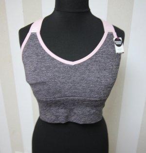 Pink Victoria's Secret Top sportowy szary-jasny różowy