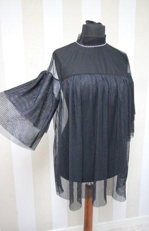 NEU Victoria´s Secret transparente Tunika Shirt Strass Nieten chic