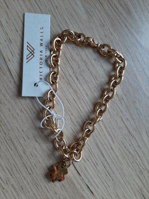 NEU Victoria Walls Armband mit Charm Edel/stahl vergoldet
