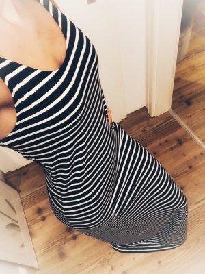 Vila Maxi Dress dark blue-white