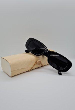 Neu Vintage Schwarze Akryl Ovale Cateye Sonnenbrillen