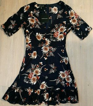 Neu! Volant Kleid mit Blumenprint von Parisian
