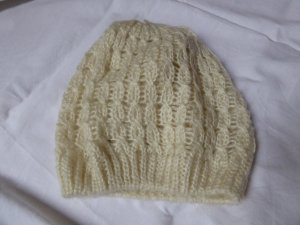H&M Knitted Hat natural white wool