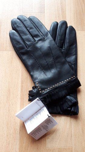 Sandro Paris Leather Gloves black leather