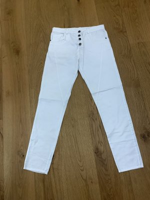 7/8 Length Jeans white cotton