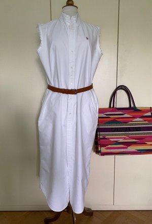Ralph Lauren Koszulowa sukienka biały Bawełna