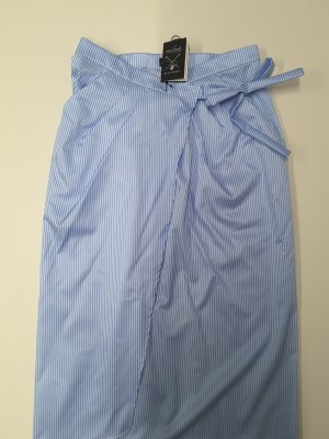 van Laack Wraparound Skirt azure-white cotton