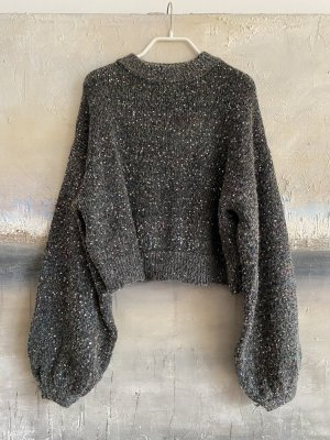 Zara Pull en laine gris foncé