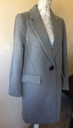 Zara Manteau en laine gris-gris clair