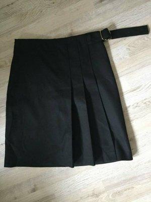 Massimo Dutti Wool Skirt black wool