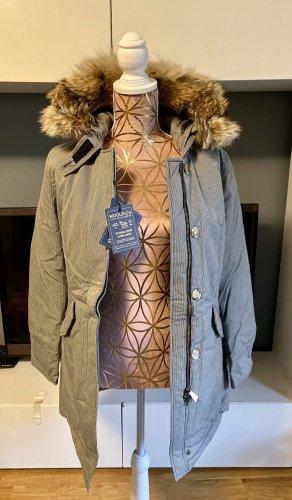NEU Woolrich Arctic Parka Byrd Cloth Limited Edition schwarz weiß Größe 36/S