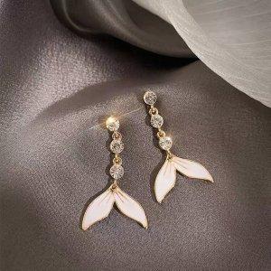 Neu wunderschöne Meerjungfrau Ohrringe mit glänzendem Zirkonia
