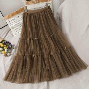 Lily Tulle Skirt light brown