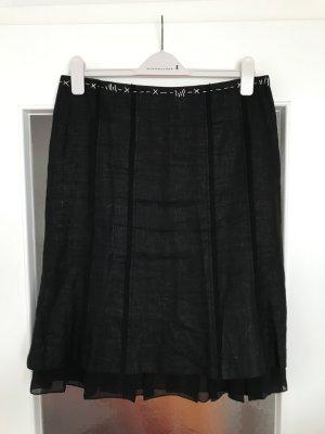 Orwell Falda de lino negro Lino