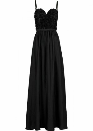 NEU!!! wunderschönes Abendkleid NEU 42 XL Maxikleid Maxi Kleid schwarz Ball Ballkleid