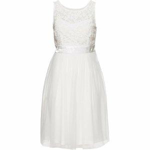 Boutique Empire Dress white cotton