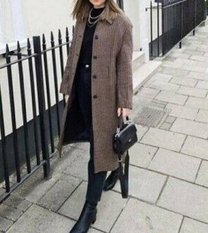 Neu Zara Check Coat statt €139