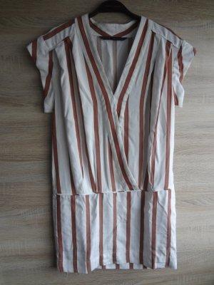 NEU Zara gestreift stripes crossover Kleid Kragen XS blogger NEU