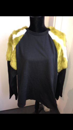 Neu! Zara Kunst Fell Pullover Fakefur Pulli Sweatshirt