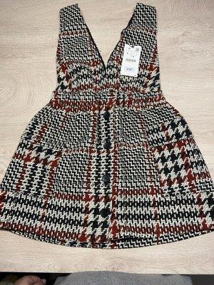 Zara Vestido de lana rojo oscuro-negro