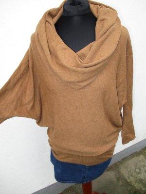 Zara Knit Maglione oversize cognac