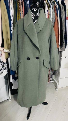 Neu Zara Oversize  Wollmantel Mantel wassergrün gr. M 38 40