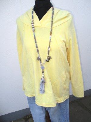 Neu - Zara Oversized Hoodie Sweater Frühjahr gelb -