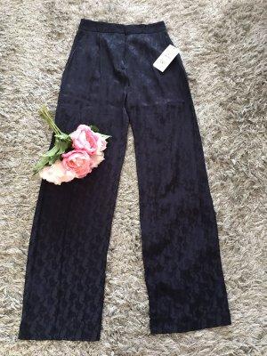 Zara Basic Pantalone palazzo blu scuro-blu
