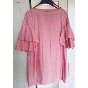 NEU Zara Rüschen Kleid Soldout Blogger Oversized Rosa Pink