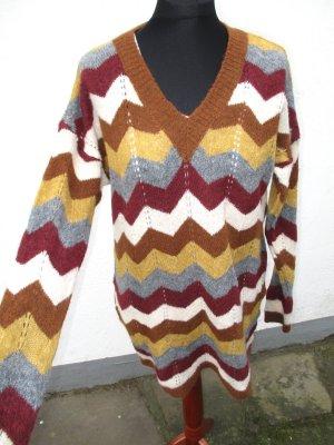 Zara Abito di maglia multicolore Tessuto misto